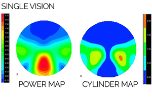 Novar Lens Design | Single Vision Map | Coburn Technologies