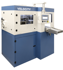 Velocity Spin Optical Lens Coater machine by Coburn Technologies for optical lens uv coating.