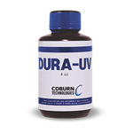 4 ounce bottle of DURA-UV lens coating by Coburn Technologies.