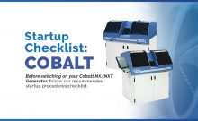 Startup Checklist for the Cobalt generator after inactive use of the machine.
