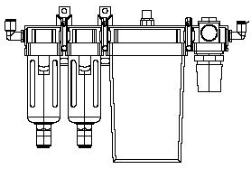 Air Regulator outline drawing front view for Cobalt Lens Generators by Coburn Technologies