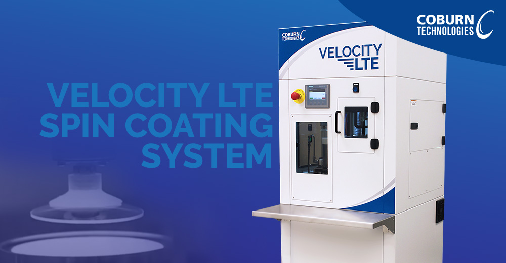 New Velocity LTE Semi-Automated UV Spin Lens Coating System press release by Coburn Technologies.