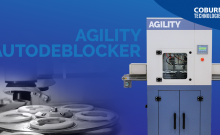 New Agility Autodeblocker machine for optical lenses by Coburn Technologies.