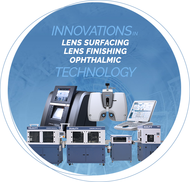 Innovations in Lens Surfacing, Lens Finishing, Ophthalmic Technology by Coburn Technologies, Inc.