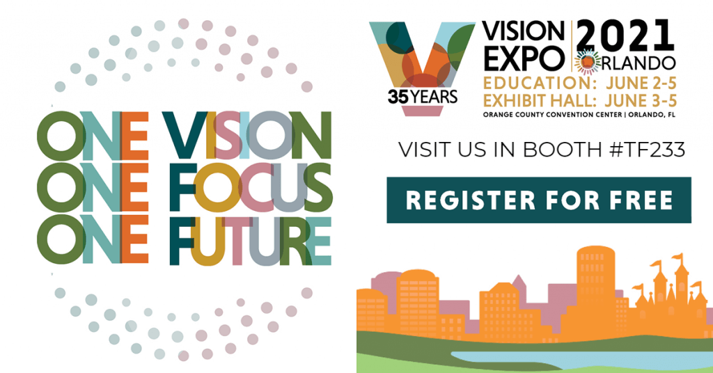 One Vision. One Focus. One Future. Vision Expo East 2021, Register for Free with Coburn's special link.