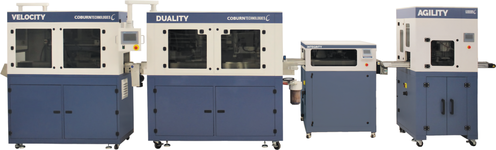 Coburn's full automated post polishing system with the Agility, Integrity, Duality and Velocity